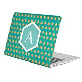 [ A - INITIAL ] [ Name Monogram Full Body Hard Case ][ Apple Macbook Air 11-inch 11'' (Model: A1370 / A1465) ] - [ Fast Food Pattern ]