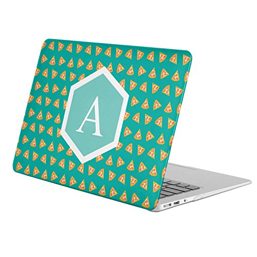 [ A - INITIAL ] [ Name Monogram Full Body Hard Case ][ Apple Macbook Air 11-inch 11'' (Model: A1370 / A1465) ] - [ Fast Food Pattern ] by KoolMac