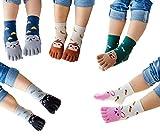 TESOON Cartoon Embroidery Pattern Toe Socks