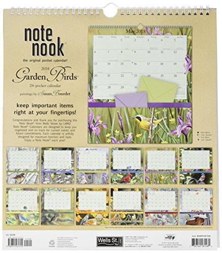 Secret Garden: 2018 Note Nook Wall Calendar