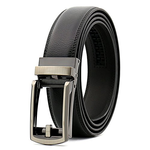 Men's Dress Comfort Genuine Click Belt,Adjustable Leather Belt 27-46