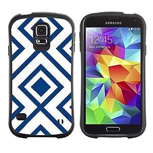 Hypernova Slim Fit Dual Barniz Protector Caso Case Funda Para Samsung Galaxy S5 [Motif Blanc Vintage Wallpaper]