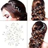 Bridal Wedding Headband - Hair Vine Headdress Sliver Pearl Hair Band Vintage Style For Women On Wedding Party Or Casual