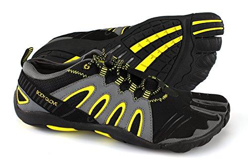 Body Glove Hombres 3t Barefoot Warrior Zapato De Agua Negro / Amarillo