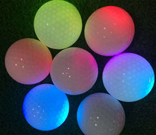 4 Pcs LED Light Up Golf Balls - Ultra Bright Glow In the Dark Night Golf Balls Multi Color for Night Sports -