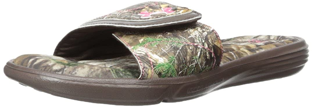 buy popular d4ae2 f3a97 Amazon.com   Under Armour Women s UA Ignite Camo VII SL, Cleveland  Brown Realtree AP-Xtra Perfection, Medium   12 B(M) US   Sandals