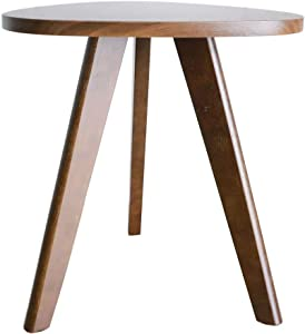 Purzest Accent Tables - Wood Side Table - Pecan, Mid-Century Modern Style End Tables - 1 Piece Small Tables for Living Room