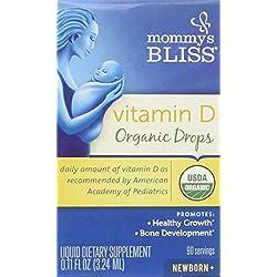 Mommy's Bliss Vitamin D Organic Drops, 0.11 Fluid Ounce