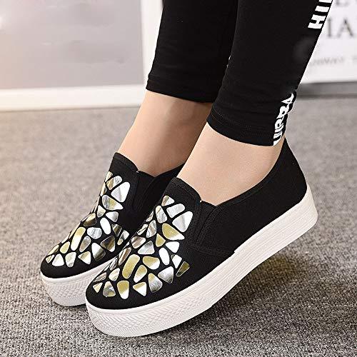 Cinnamou Running Trail de Deportivas Deportes Tacón y Zapatos Sneakers Gym Comodos Mujer Zapatillas para Aire Plata Libre r1wRqCr