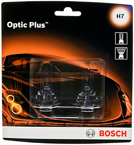 (Bosch H7 Optic Plus Upgrade Halogen Capsule, Pack of 2 )