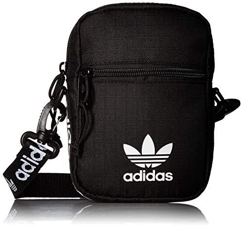 adidas Originals Festival Crossbody Bag, Black/White, One Size from adidas
