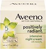 Aveeno Positively Radiant Intensive Night Cream Aveeno Positively Radiant Intensive Night Cream with Vitamin B3, 1.7 Ounce