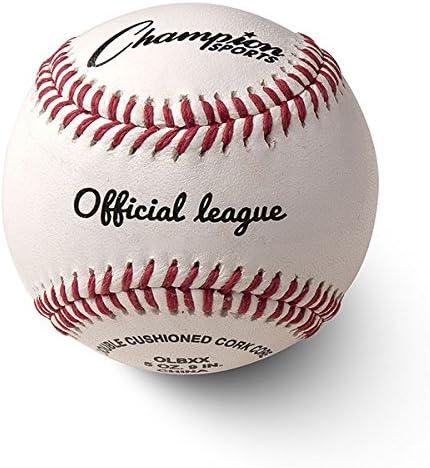 Champion Sports Conjunto de beisebol de couro: dúzia de bolas de beisebol oficiais de couro legítimo para treino ou jogo real - OLBXX pacote com 12 : Amazon.com.br: Esporte