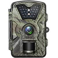 12MP 1080P Trail Game Wildlife Camera, Boblov 2.4 LCD Deer Hunting Camera for Wild Scouting Digital Surveillance with Waterproof 24pcs Low Glow IR LEDs Night Vision 90° Wide Angle