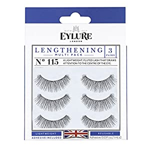 Eylure Lengthening Eyelash Multipack, 115, 3 Count