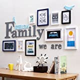 ALUS- 9 Multi Photo Frames Set Nordic Style Wooden Modern Minimalist Home Bedroom Sofa Living Room Background Wall Photo Frame Portfolio Photo Wall ( Color : B )