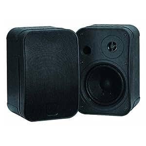 Omnitronic Control 1 - Altavoces (De 2 vías, Mesa/estante, Montar en la pared, Satélite, 30W, 50 - 18000 Hz, 4 Ohmio) Negro