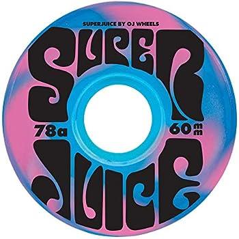 OJ III Skateboard Cruiser Wheels Super Juice Blue//Pink Swirl 60mm 78A