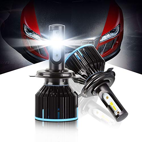 (LED Headlight Bulbs H4 All-in-one Conversion Kit High/Low Beam Extremely Bright 6500K Cool White 10000 Lumens Plug&Play LED HeadLamps by Max5, 2-Years Warranty)