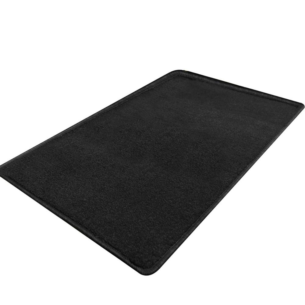 Black 100x150cm JIAJUAN Thicken Doormat Wear Resistant Non-Slip Easy to Clean Home Floor Mat for Living Room Kitchen Bedroom Entrance (color   Black, Size   100x150cm)