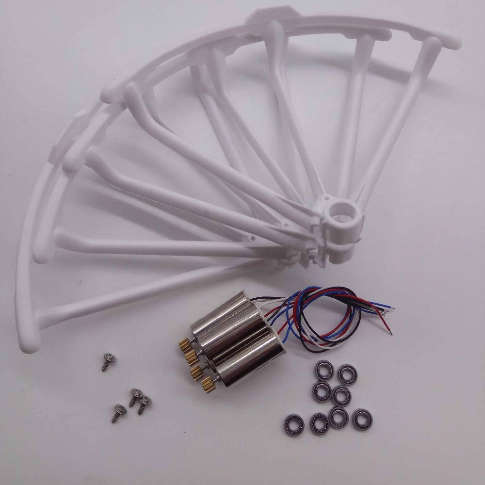 Generic Propeller Predect Guard Metal Gears Motors and 8pcs axle Bearing Spare Parts for Hubsan H502S H502E RC Quadcopter Drone