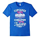 Men's Cupcakes Are Cheaper Than Therapy - Cupcake T-Shirt 2XL Royal Blue