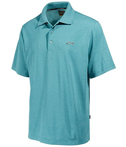 Greg Norman Mens Five Iron Rugby Polo Shirt, Green, Small