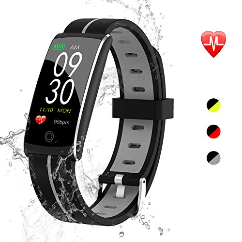 Fitness Tracker Waterproof - Slim Silicone Band with Durable Battery, Color Screen Display, Magnetic Suction Charging, 15 Functions Compatible with Android and iOS by maxtop - (Best Next Fitness Trackers)