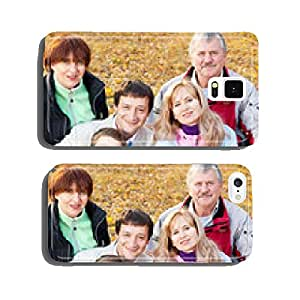 Big family in autumn park cell phone cover case iPhone6