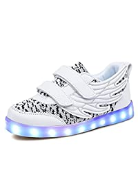 MIKA HOM Kids LED Light Up Shoes Children High Tops Winter Sneakers For Boys Girls School Boots Christmas Party Dancing With USB Charging