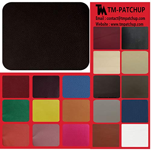 TMgroup, Leather Patches for Furniture, Genuine Leather Repair Patch kit, Peel and Stick for Couch, Sofas, car Seats, Hand Bags,Furniture, Size 6-inch x 3-inch (Black Brown, Quantity : 1) ()