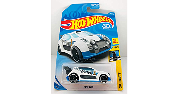 HOT WHEELS Fast 4WD Pawn Black Checkmate