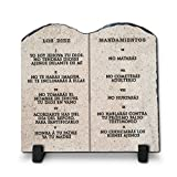 Cheap Los Diez Mandamientos| Superior Religious Inspirational Home Décor By InspiraGifts Polished Slate | Christian Home Plaque Stone Gift (7.8X7.8)