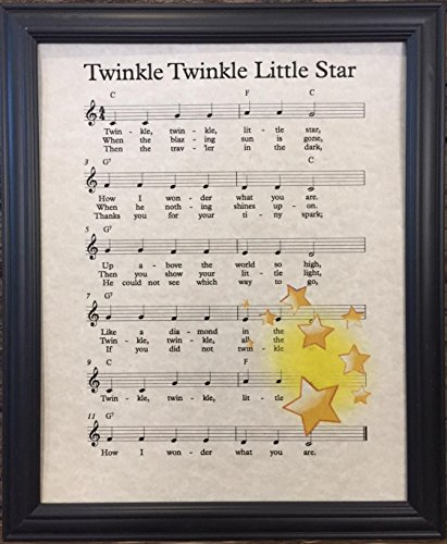 Ready Prints Twinkle Twinkle Little Star Music Sheet Artwork Print Picture Poster Home Office Bedroom Nursery Kitchen Wall Decor - unframed