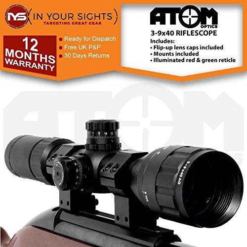 Atom Optics 3-9x40 AO Alcance del rifle