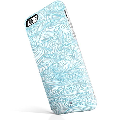 Blue Wave Silicone (iPhone 6/6s case for girls, Akna Get-It-Now Collection High Impact Flexible Silicon Case for both iPhone 6 & iPhone 6s [Blue Wave](215-U.S))
