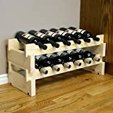 Creekside 12 Bottle Short Scalloped Wine Rack (Pine) by Creekside – Easily stack multiple units – hardware and assembly free. Hand-sanded to perfection!, Pine Review