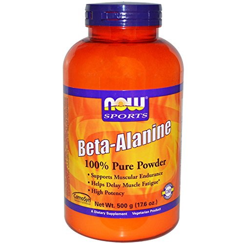 Now Foods Beta-Alanine - 500 g (17.6 oz.) 6 Pack by NOW Foods