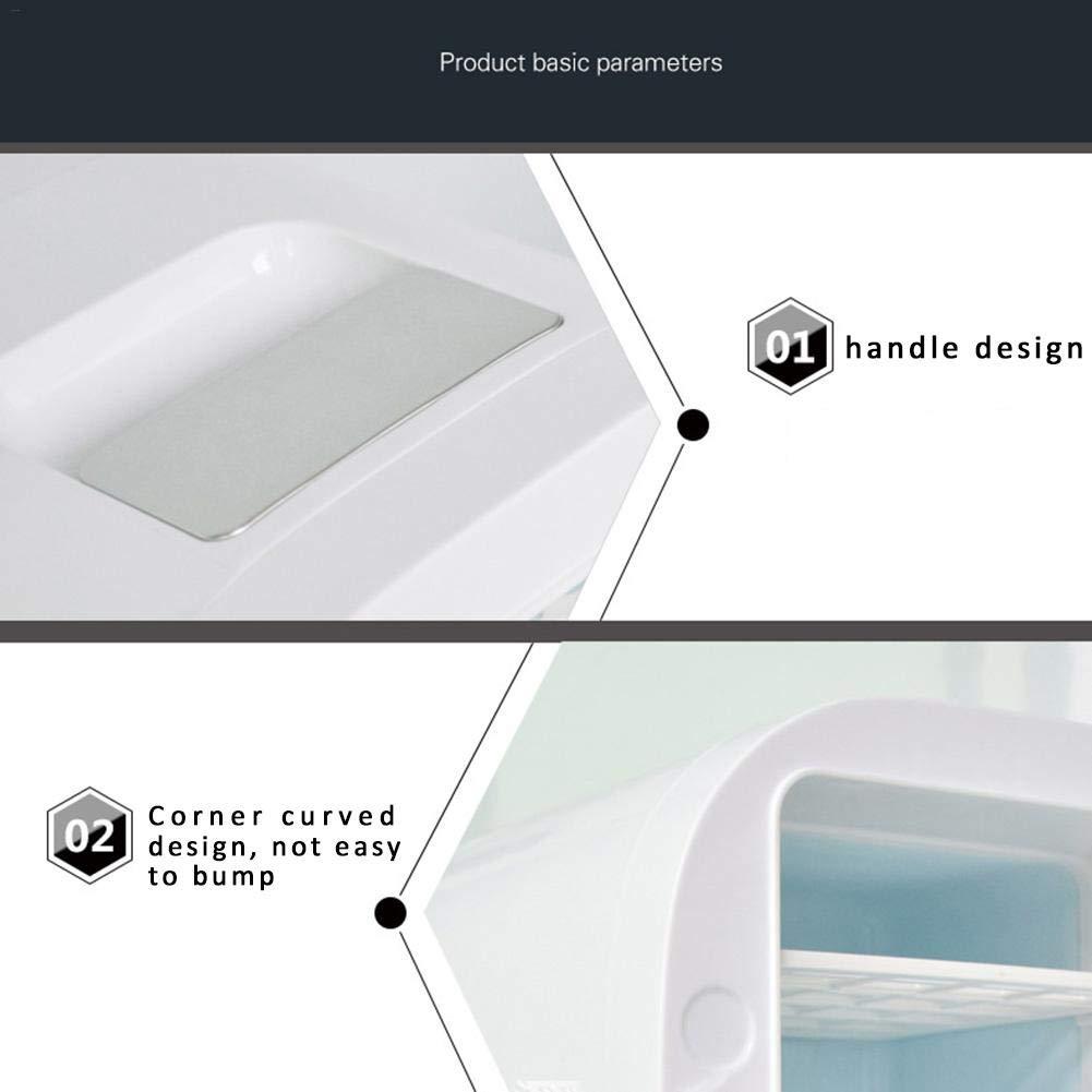 Dormitorio O Bote Oficina Blanco waysad Mini Nevera Auto Nevera Peque/ña El/éctrica Nevera Port/átil 12V Refrigerador Congelador Calentador Caja De Fr/ío Y Uso Doble para Hogar Coche