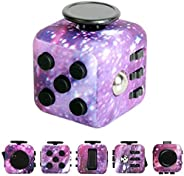 Galaxy Cube Toy Children Special Adults Stress Anxiety Relief Desk Toy,Easy to Carry Six Fun Ways to Play Help