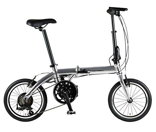 trance 모바이리 (TRANS MOBILLY) ULTRA LIGHT E-BIKE AL-FDB166E 접이식 어시스트 자전거 16인치 알루미늄 프레임 LED라이트 부착 마그넷 탈착식 배터리 채용 92203-0999 실버