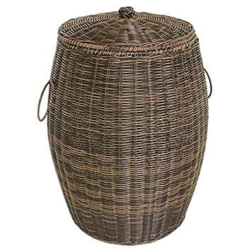 . Amazon com   YZL  Dirty clothes storage wicker basket clothes hamper