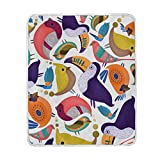My Little Nest Warm Throw Blanket Birds Lightweight MicrofiberSoft Blanket Everyday Use for Bed Couch Sofa 50'' x 60''