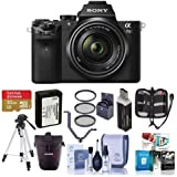 Sony Alpha a7II Mirrorless Digital Camera with FE 28-70mm f/3.5-5.6 OSS Lens, - Bundle With Camera Holster Case , 32GB Class 10 SDHC Card, 55mm Filter Kit (UV/CPL/ND2), Spare Battery, Tripod, And More