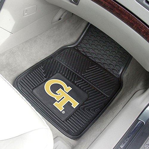 Fan Mats Georgia Tech Vinyl Car Mats BLACK/YELLOW/WHITE 18 X27