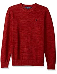 Men's Marl Reverse Jersey Crew Neck Sweater