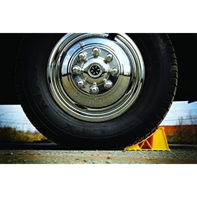 Camco 44414 Wheel Chock Without Rope, Helps Keep Your Trailer RV In Place (Pack of 2): Automotive