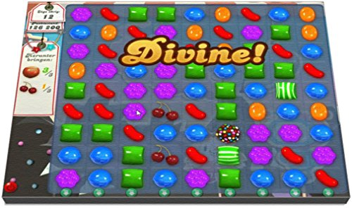 (Candy Crush Divine! Reproduced on Neoprene Mouse Pad)