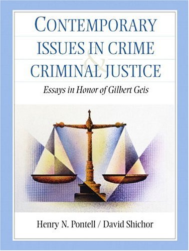contemporary issues in criminology The journal of contemporary criminal justice presents single-themed special issues that focus on a critical issue in contemporary criminal justice in order to provide a cogent, thorough, and timely exploration of the topicsubjects include such concerns as organized crime, community policings, gangs, white-collar crime, and excessive police force.