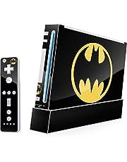 DC Comics Batman Wii (Includes 1 Controller) Skin - Batman Logo Vinyl Decal Skin For Your Wii (Includes 1 Controller)
